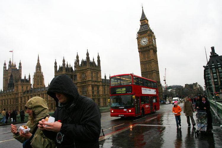 rainy england